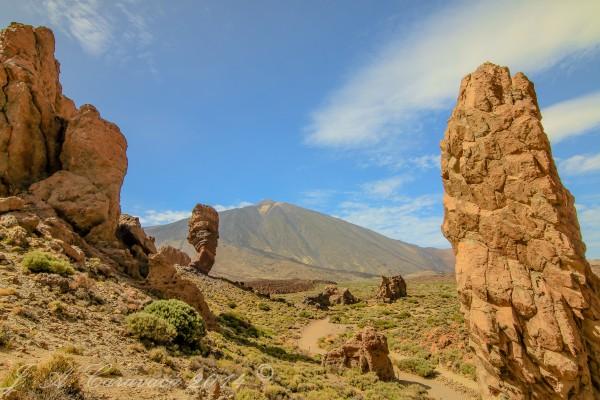 Las Roques de García, con el Teide de fondo